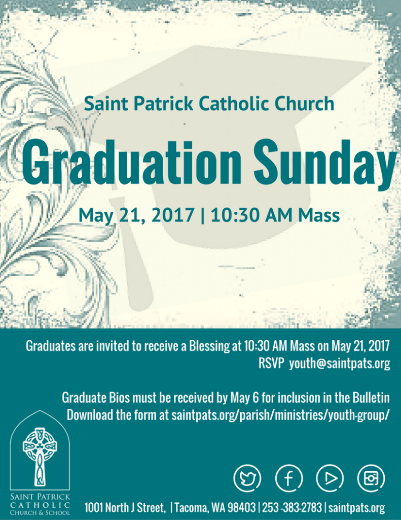 2017 Graduation Sunday Flyer