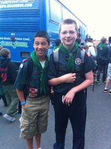 July 2011 - Boy Scout Troop leaving for a week at camp - Sean Lane and Andrew Jesse