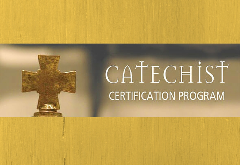 Recognizing Catechetical Certification Saint Patrick Catholic Church