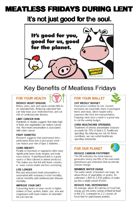 56c88628764 Encounter Lent: Meatless Fridays - Saint Patrick Catholic Church