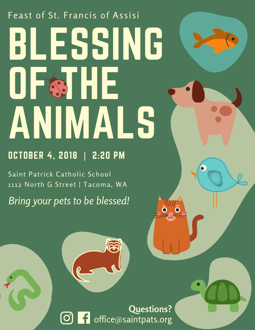 Blessing of the Animals - St  Pat's Catholic School