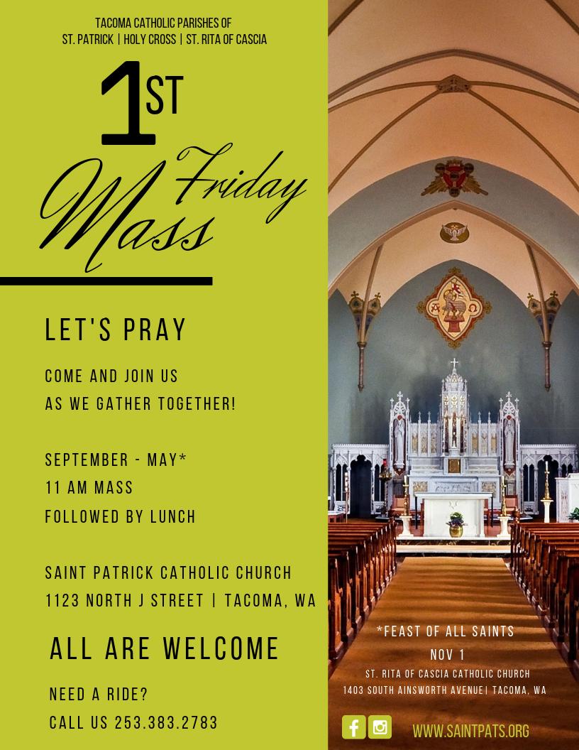 Mass Times Saint Patrick Catholic Church