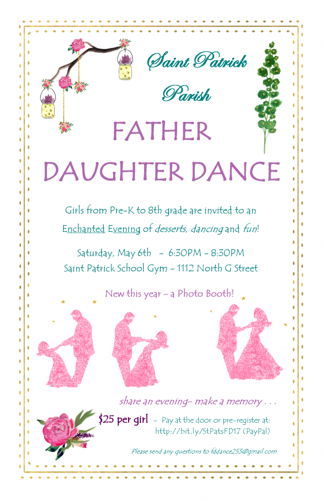 2017 Father Daughter Dance Poster